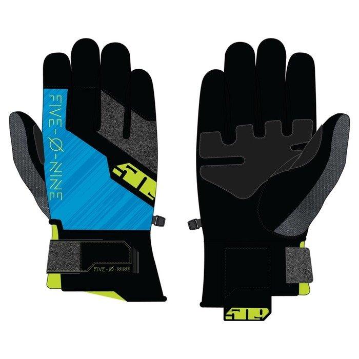 Перчатки 509 Freeride с утеплителем, чёрный, синий, жёлтый, 2XL фото