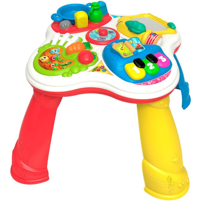 Развивающая игрушка Chicco «Говорящий столик» русский, английский языки, от 12 месяцев фото