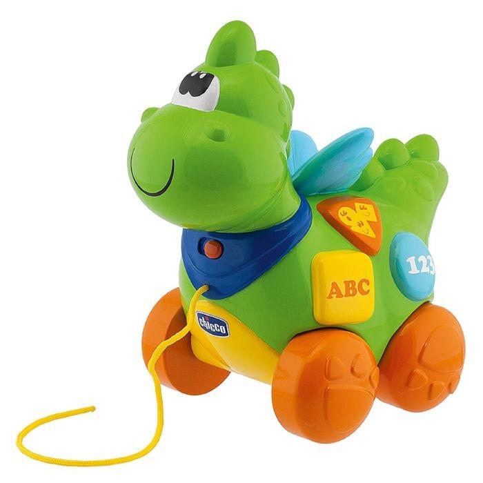Игрушка-каталка Chicco «Говорящий дракон» русский, английский языки, от 9 месяцев фото