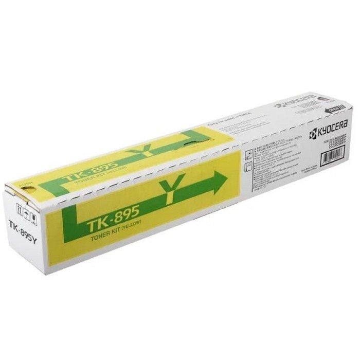 Тонер Картридж Kyocera 1T02K0ANL0 TK-895Y желтый для Kyocera FS-C8020/C8025 (6000стр.) фото