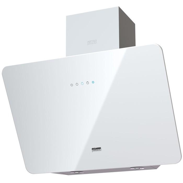 Вытяжка KRONA LIORA 600 white S, наклонная, 3 скорости, 600 м3/ч, сенсор, белая фото