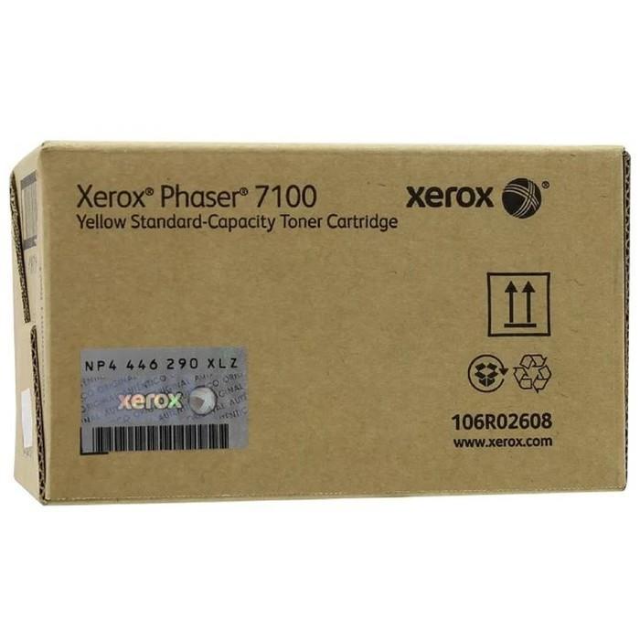 Тонер Картридж Xerox 106R02608 желтый для Xerox Phaser 7100 (4500стр.) фото