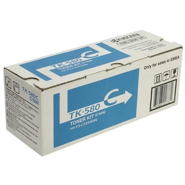 Тонер Картридж Kyocera 1T02KTCNL0 TK-580C голубой для Kyocera FS-C5150DN (2800стр.) фото