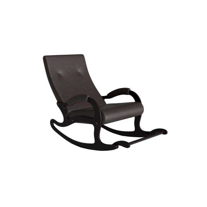 Кресло-качалка «Сан-Ремо», 640 × 1315 × 905 мм, экокожа, цвет венге фото
