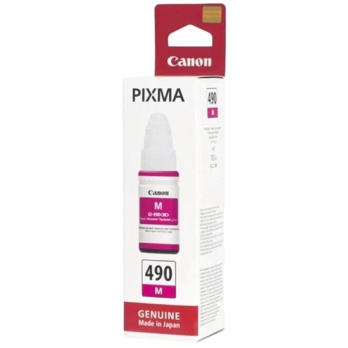 Картридж струйный Canon GI-490M 0665C001 пурпурный для Canon Pixma G1400/2400/3400 (70мл) фото