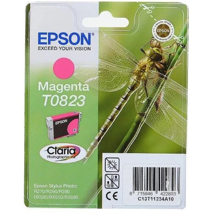 Картридж струйный Epson C13T11234A10/C13T08234 пурпурный для Epson R270/290/RX590 фото