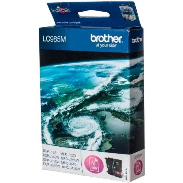 Картридж струйный Brother LC985M пурпурный для Brother DCP-J315W/J515W/J265W (260стр.) фото
