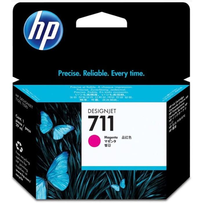 Картридж струйный HP №711 CZ131A пурпурный для HP DJ T120/T520 (29мл) фото