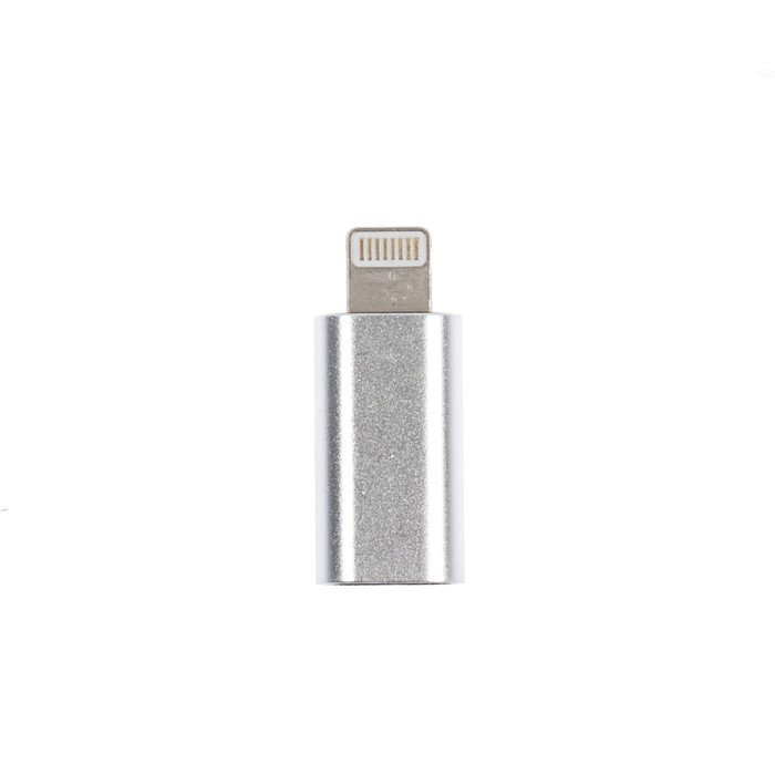 Переходник LuazON, с micro USB на Type-C, 1 шт, серебристый фото