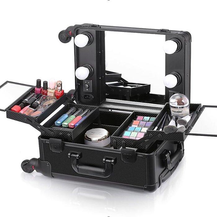 Мобильная студия визажиста без ножек, цвет чёрный LC 006 фото