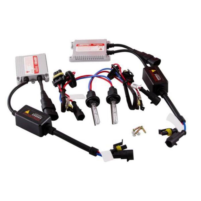 Автолампа би-ксенон H4 H/L 12V 35W 5000K Skyway, набор 2 шт + провод+ 2 блока розжига фото