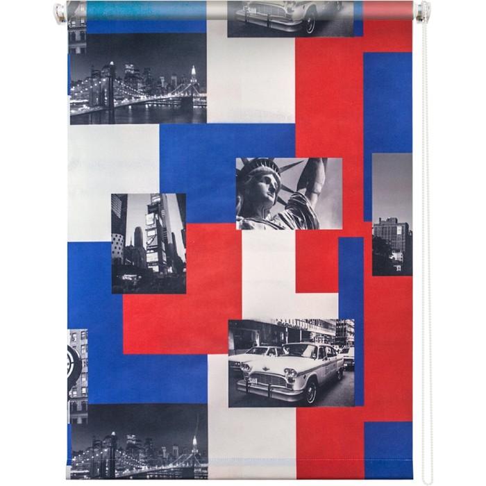 Рулонная штора «Нью-Йорк», 160х175 см, цвет пёстрый Уют фото