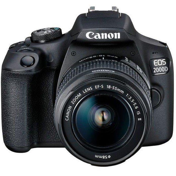 Зеркальный Фотоаппарат Canon EOS 2000D, 24.1мп, 1080p, 18-55мм, 3