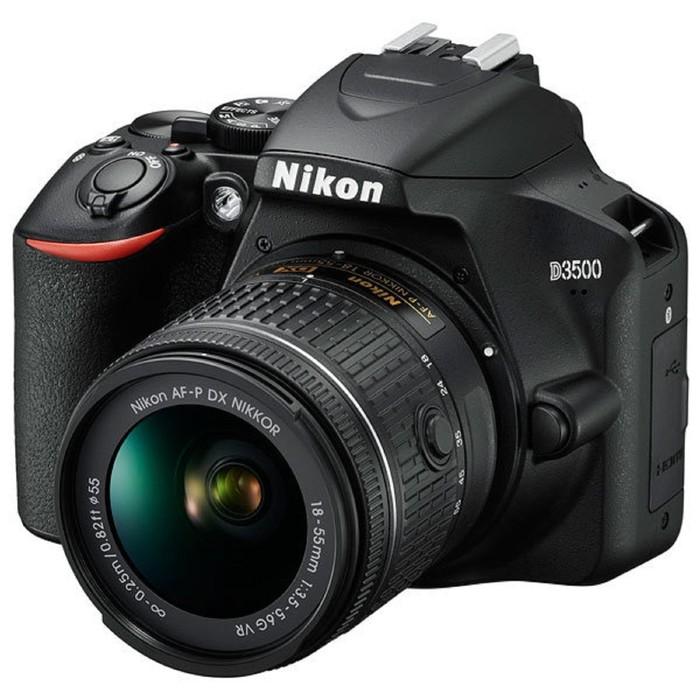 Зеркальный Фотоаппарат Nikon D3500, 24.2мп, 18-55мм, 1080р, FHD, SDXC, черный фото