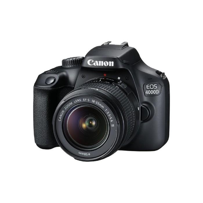 Зеркальный Фотоаппарат Canon EOS 4000D KIT, 18мп, 18-55мм, 1080p, 2.7