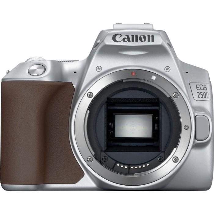 Зеркальный Фотоаппарат Canon EOS 250D, 24.1мп, 4K, 18-55мм, EF-S, 3