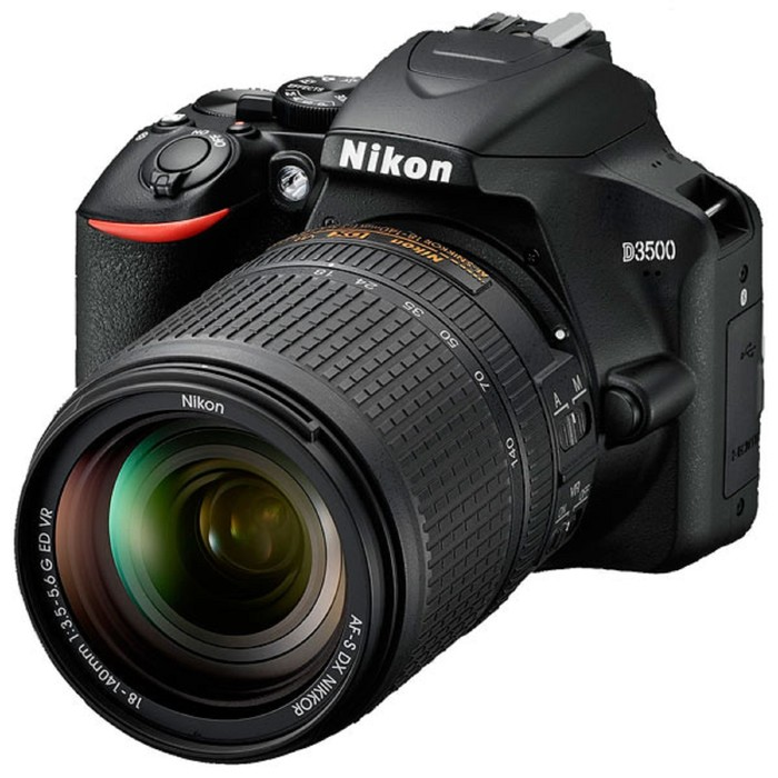 Зеркальный Фотоаппарат Nikon D3500, 24.2мп, 18-140мм, 1080р, 3