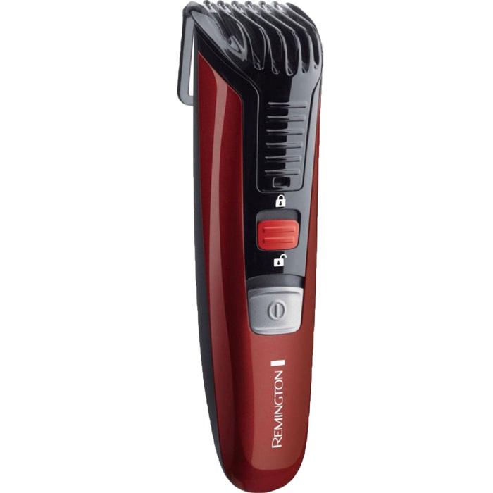Машинка для стрижки бороды и усов Remington MB 4125, 1.5-18 мм, +триммер, чёрно-красная фото