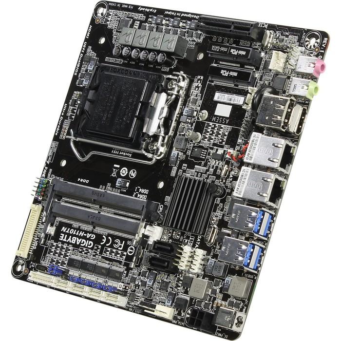 Материнская плата GIGABYTE GA-H110TN v1.0, LGA1151, HDMI+DP, GbLAN, mITX, SODIMM фото