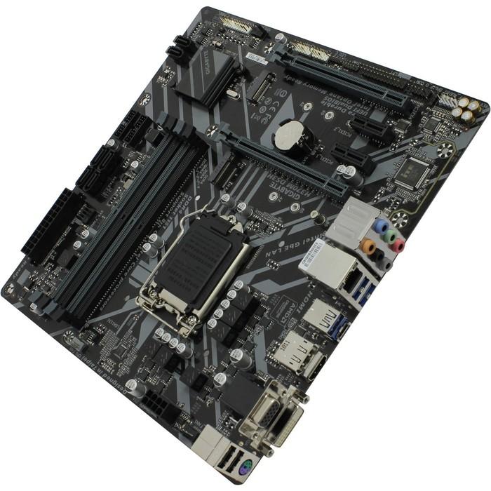 Материнская плата GIGABYTE H370M DS3H v1.0, LGA1151, 4xDDR4, 2xPCI-E, Dsub+DVI+HDMI, mATX фото