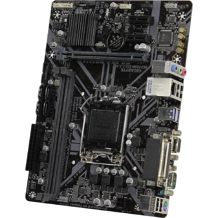 Материнская плата GIGABYTE H310M DS2 2.0, LGA1151, 2xDDR4, PCI-E, Dsub GbLAN, mATX фото