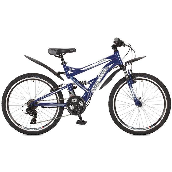 """Купить со скидкой Велосипед 24"""" Stinger Versus, 2017, цвет синий, размер 16,5"""""""