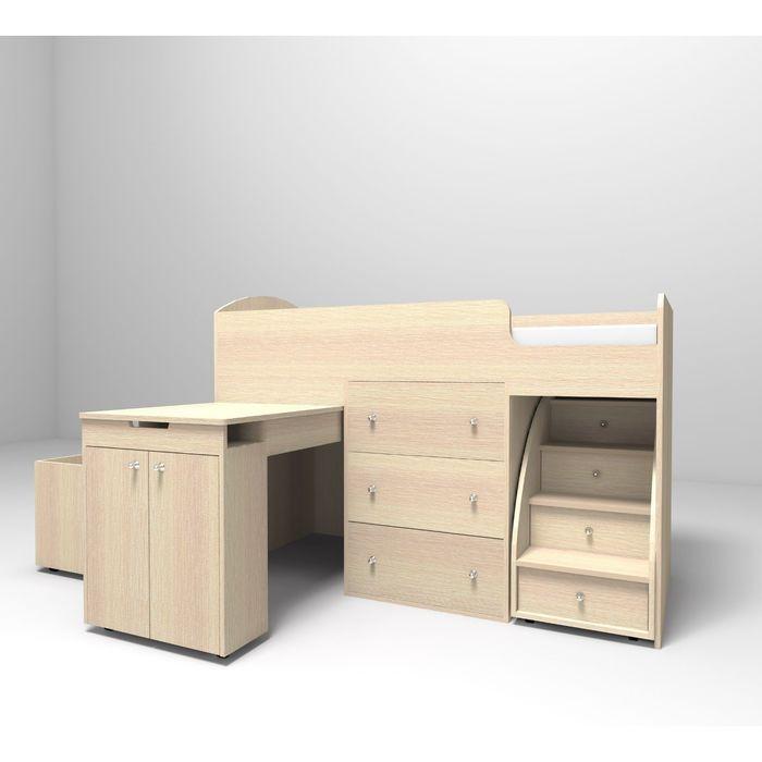 Кровать-чердак Ярофф Малыш 800x1800 дуб молочный дуб молочный фото