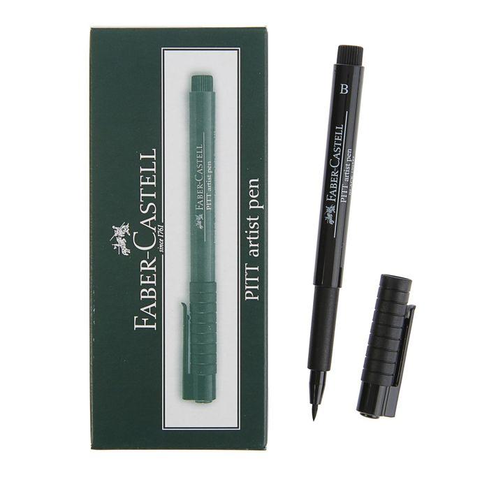 Ручка кисть капиллярная Faber-Castell PITT® Artist Pen Brush, B черный 167499 фото