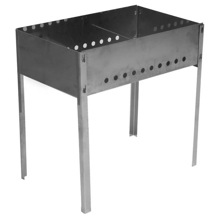 Мангал, толщина 0,8 мм, в коробке, без шампуров, размер 50 х 30 х 50 см фото