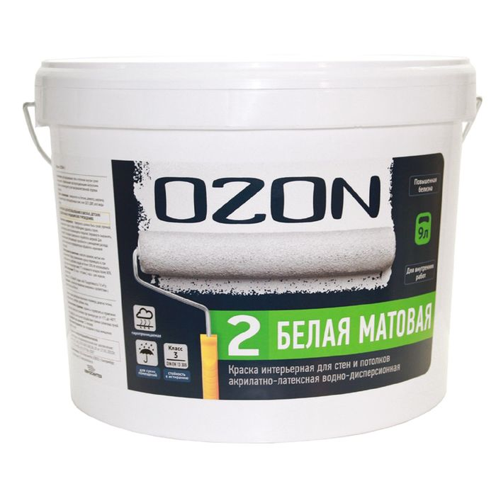 Краска интерьерная OZON-2 ВД-АК 222АМ акрилатно-латексная, база А 2,7 л (4,2 кг) фото