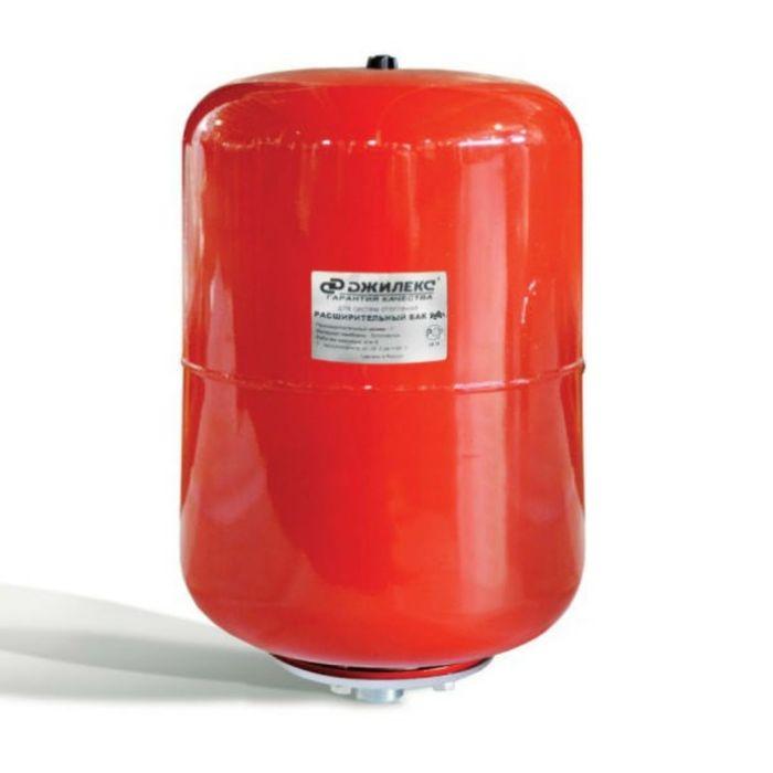 Расширительный бак Джилекс, для систем отопления, металлический фланец, 50 л фото