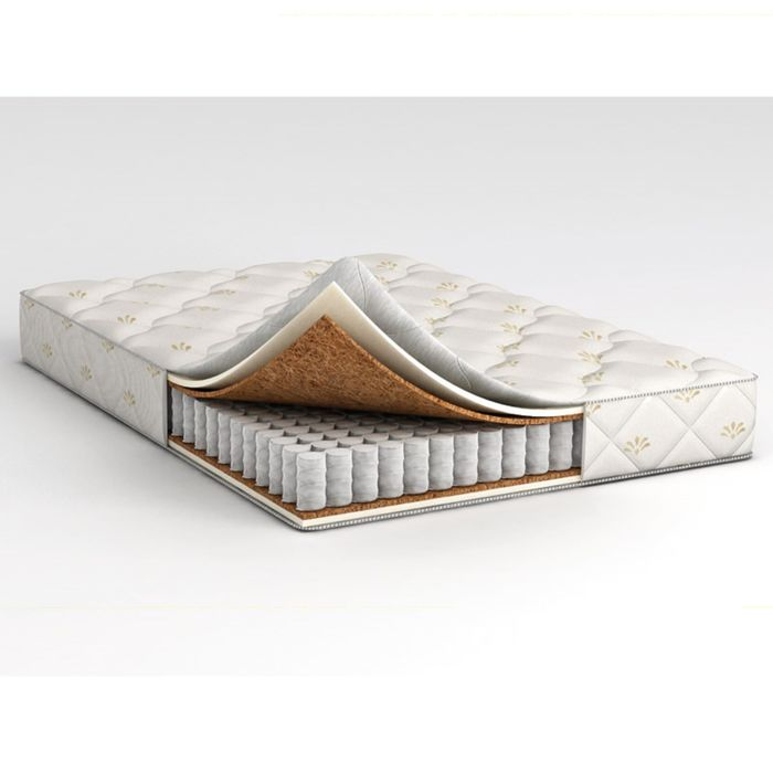 Матрас Askona Compact Cascade, размер 120х190 см, высота 17 см, трикотаж фото