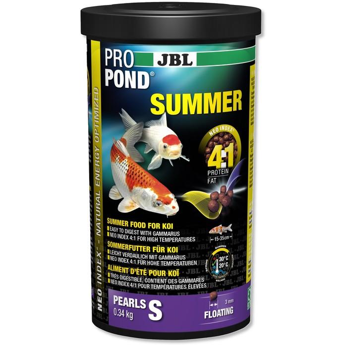 JBL ProPond Summer основной летний корм, плавучие гранулы для карпов кои небольшого размера, 0,34 кг (1 л) фото