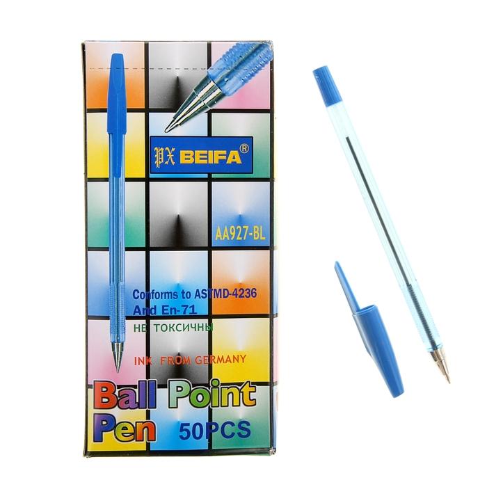 Ручка шариковая Стандарт 927 Beifa, стержень синий, узел 0.7 мм фото
