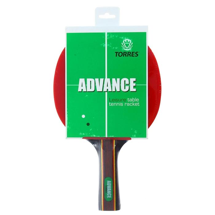 Ракетка для настольного тенниса Torres Advance, для любителей, накладка 1,8 мм, коническая ручка фото