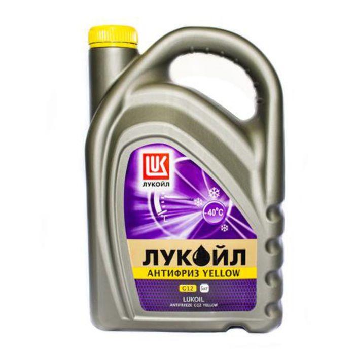 Антифриз Лукойл G12 Yellow (канистра 5 кг) фото
