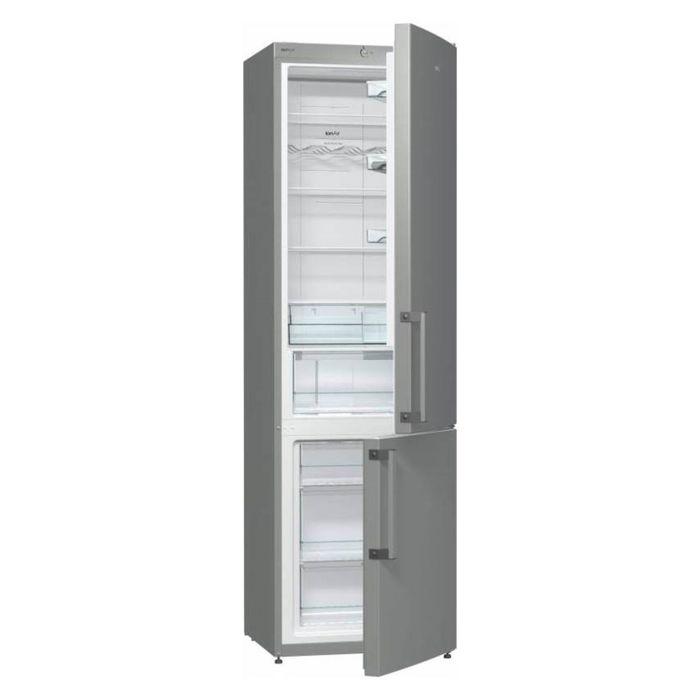 Холодильник Gorenje NRK6201GHX, класс А+, объем 339 л, двухкамерный, нержавеющая сталь фото