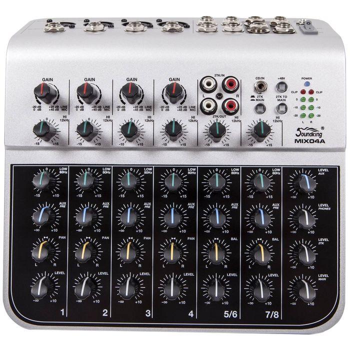 Микшерный пульт Soundking MIX04A (мини), 8 каналов фото