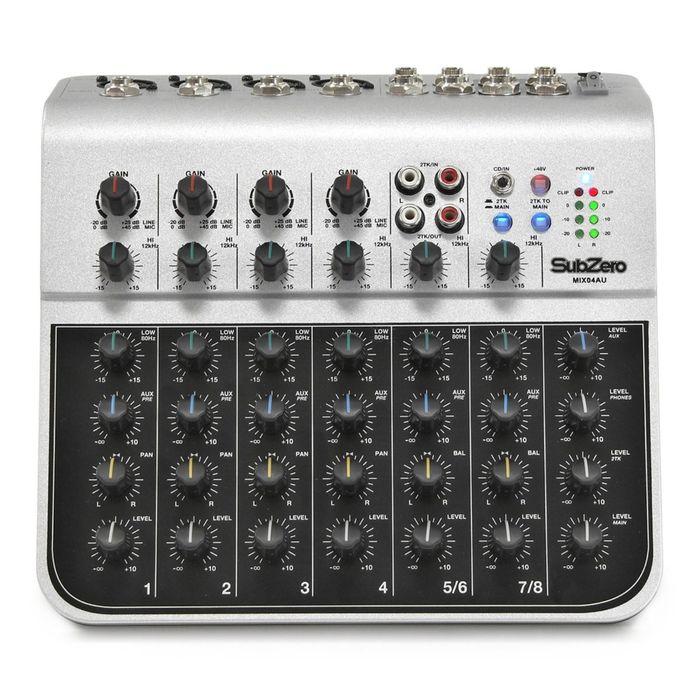 Микшерный пульт Soundking MIX04AU (мини), 8 каналов, USB фото