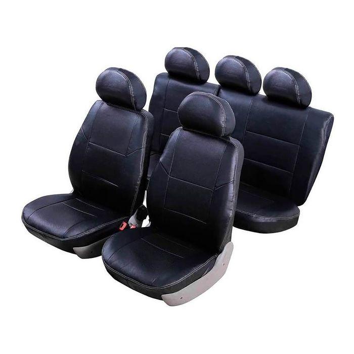 Чехлы модельные Senator Atlant экокожа Mazda 3 2014- Седан чёрный фото