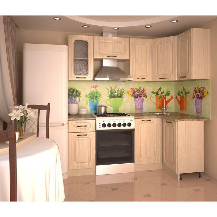 Кухонный гарнитур, грецкий орех 12, 2000 × 1100 мм, правый фото