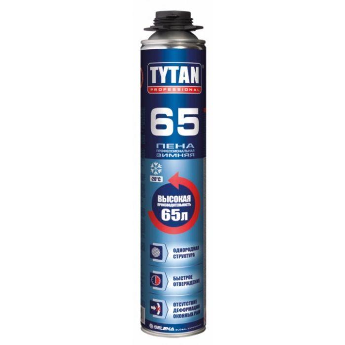Пена монтажная ПРОФ Tytan 65 зимняя 750 мл 1уп=12шт фото
