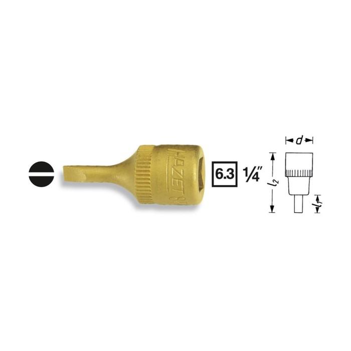 Головка HAZET 8503-0.8x4, с насадкой 1/4