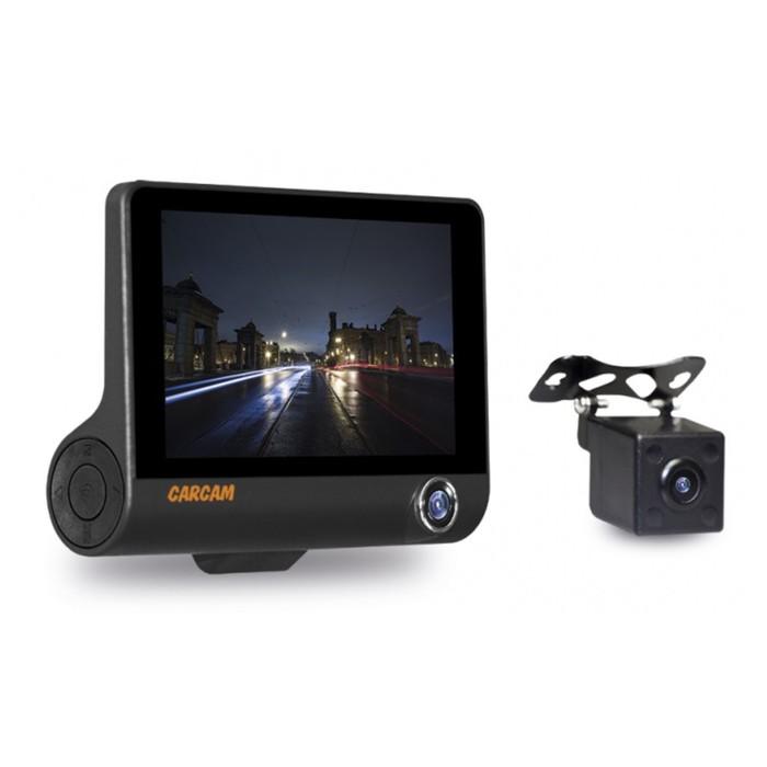 Видеорегистратор Carcam Каркам D3, три камеры, 4.5