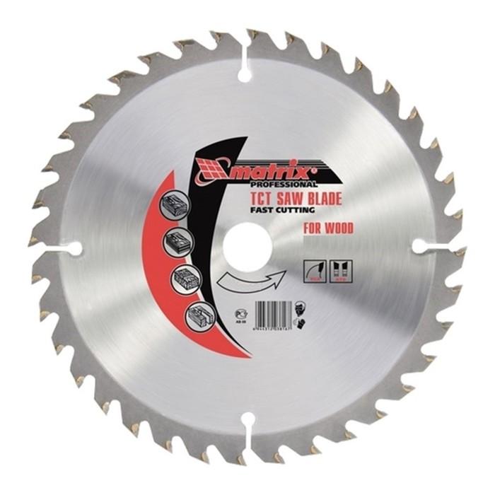 Пильный диск по дереву MATRIX Professional, 200 х 32 мм, 60 зубьев, + кольцо, 30/32 фото