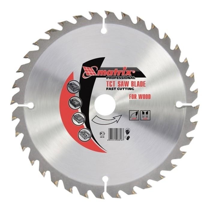 Пильный диск по дереву MATRIX Professional, 250 х 32 мм, 36 зубьев + кольцо 30/32 фото