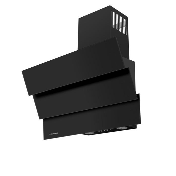 Вытяжка Maunfeld Cascada Mini 60, 3 скорости, 650 м³/ч, черное стекло фото