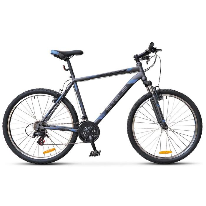 """Купить со скидкой Велосипед 26"""" Stels Navigator-500 V, V020, цвет антрацитовый/синий, размер 16"""""""