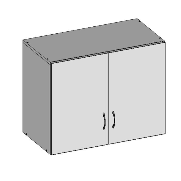 Антресоль двухдверная НАШ-1, 760х380х600 мм, белый шагр фото
