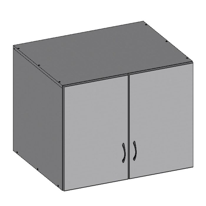 Антресоль двухдверная НАШ-5, 760х600х600 мм, серый фото